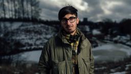 Adrian Perera in snowy landscape