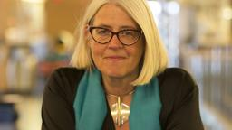 Ulrika Knutson with blue scarf