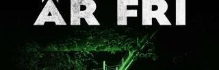 Luften är fri book cover: green-tinted flyovers
